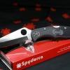"Spyderco Endura 4 Knife Black FRN Folder (3.75"" Satin Plain) C10PBK"