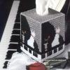 ชุดปักแผ่นเฟรมกล่องทิชชูืีลายแมวเปียโน