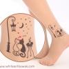[พร้อมส่ง] T4022 ถุงน่องสีเนื้อ พิมพ์ลายแมวคู่รัก Love Cat Couple