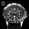 New INFANTRY Royal Army Black Men Sport Date Quartz Wrist Watch Outdoor Rubber