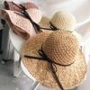 [พร้อมส่ง] H6807 หมวกสานปีกกว้าง หมวกไปทะเล สานสไตล์โครเชต์ ตกแต่งด้วยริบบิ้นผูกเป็นโบ น่ารักๆ