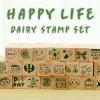 HAPPY LIFE Diary Stamp Set