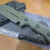 "Microtech Crosshair Knife Green Double Edge Fixed (5"" Green Plain) 101-1GR"