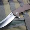 "RHK XM18 3.5"" Skinner 2-Tone Satin Blade Flat Dark Earth G-10"