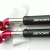 หลักอานโช๊ค ZOOM อลูเนียม+เหล็ก สีดำแดง 350mm ขนาด 27.2MM
