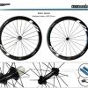 ชุดล้อเสือหมอบ Visp Carbon Wheelset 38MM Tubular Basic(ยางฮาล์ฟ)