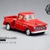 โมเดลรถเหล็กรถจำลอง CHEVROLET Chevy Stepside Pick-up 1955 สีแดง