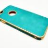 เคสหนังแต่งขอบทอง ไอโฟน 6/6s 4.7 นิ้ว-เขียว