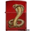 """ไฟแช็ค Zippo แท้ """"Cobra Snake"""" Candy Apple Red Lighter #Zippo Code 8951 แท้นำเข้า 100% (ราคา Preorder)"""