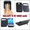 Battery Case S-View Cover for Galaxy S4 4500 mAh
