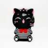 เคสซิลิโคน 3Dแมวดำใส่เสื้อขวาง ซัมซุง เจ 5Prime