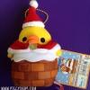 ตุ๊กตาพวงกุญแจไก่โทะริ ปล่องไฟคริสมาสต์ Rilakkuma's friend chick Kiiroitori key chain plush doll of Christmas series
