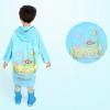 เสื้อกันฝนลายสัตว์น้ำพร้อมซอง (สีฟ้า) แพ็ค 2 ชุด [size 4y]