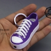 ไฟแช็ค รูปรองเท้าผ้าใบ สีม่วงเข้ม