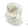 กระเป๋าเป้ สไตล์ MCM ไซส์ 11.5นิ้ว แต่งอะไหล่ตอกหมุดและซิบเหล็กสีทอง งานอยู่ทรงสวย