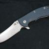 "RHK XM18 3.5"" Skinner Stonewashed Blade Blue/Black G-10"