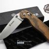 ขายมีดพับ Ganzo กานโซ่ รุ่น Ganzo G727M-WD1 ด้ามลายไม้ ของแท้ 100%