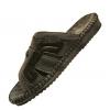 รองเท้าแตะ หนัง walker เทาดำ M5207
