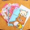 แฟ้มใส่เอกสารพลาสติกหมีรีลัคคุมะ Rilakkuma paper document cover