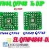 QFN/QFP44/48 adapter to DIP