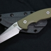 Hinderer FXM 3.5 FIXED BLADE WHARNCLIFF OD Green G-10 W/SHEATH
