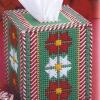 ชุดปักแผ่นเฟรมกล่องทิชชูลายดอกไม้ Pepper Mint