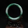 กำไลหยกพม่าขาวลายเขียวสวย (Burma jade bangle)
