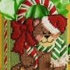 ชุดปักแผ่นเฟรมกระเป๋าวลายหมีคริสต์มาส