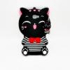 เคสซิลิโคน 3Dแมวดำใส่เสื้อขวาง ซัมซุง เจ 7Prime