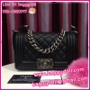 "Chanel Boy Bag Caviar Leather Silver Hardware 8"" **เกรดท๊อปมิลเลอร์** (Hi-End)"