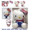 ตุ๊กตาเฮลโหลคิตตี้ผูกผ้าพันคอลายธงชาติอังกฤษ 32 cm. SANRIO Original Hello Kitty x UNION JACK London UK Stuffed Plush Toy