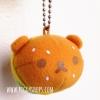 ตุ๊กตาพวงแฮมเบอร์เกอร์ลายหมีรีลัคคุมะ Japan San-X Rilakkuma Hamburger Keychain