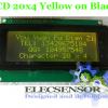 LCD 20x4 Yellow on Black