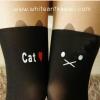 [พร้อมส่ง] P1260 ถุงน่องสไตล์ญี่ปุ่น ลายแมวหน้าทะเล้น แมว CatX