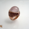 แหวนเงินโรสควอตซ์ (Silver ring rose quartz)