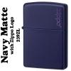 """ไฟแช็ค Zippo แท้ """" Zippo 239ZL Logo Navy Blue Matte Finish Lighter """" แท้นำเข้า 100%"""