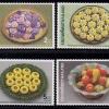 แสตมป์ชุด ขนมไทย ที่ระลึกงานสัปดาห์สากลแห่งการเขียนจดหมาย 2533 (ยังไม่ใช้)