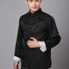 ชุดจีน ชาย เสื้อผ้าแพร สีดำ/ ขาว ใส่ได้สองด้าน