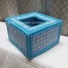 กล่องทิชชูแผ่นเฟรม Pop up สีฟ้า (ทำสำเร็จ)