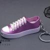 ไฟแช็ค รูปรองเท้าผ้าใบ สีม่วงอ่อนเหลือบประกายเทา