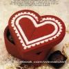 ชุดปักแผ่นเฟรมกล่องใส่ของรูปหัวใจสีแดง
