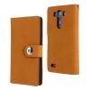 เคส LG G3 แบบฝาพับหนังเทียมแบบกำมะยี สวยหรู สีน้ำตาลอมส้ม ราคาถูก