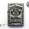 ไฟแช็ค ลาย สุรายี่ห้อ Jack Daniel's Jennessee Whisky สีเทา