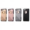 เคส iPhone 7 Plus เคสกันกระแทกแยกประกอบ 2 ชิ้น ด้านในเป็น TPU สีดำ ด้านนอกพลาสติกเคลือบเงาโลหะเมทัลลิค มีแหวนสำหรับตั้ง ราคาถูก