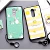 เคส Huawei GR5 (2017) พลาสติก TPU ยืดหยุ่นได้สกรีนลายน่ารักมากๆ + แหวนที่ตั้งและสายคล้อง ราคาถูก