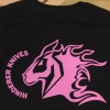 HINDERER KNIVES T-SHIRT LADIES BLACK/PINK MED
