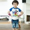 เสื้อมิกกี้แขนสีน้ำเงิน แพ็ค 5 ชิ้น [size: 1y-2y-3y-4y-5y]