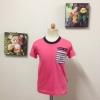 เสื้อยืดลายหมายเลข 9 สีชมพู
