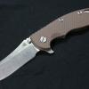 "RHK XM18 3.5"" Skinner Stonewashed Blade Coyote G-10"
