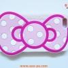เคสซิลิโคน iphone 4/4s ลายการ์ตูน โบว์ Hello Kitty